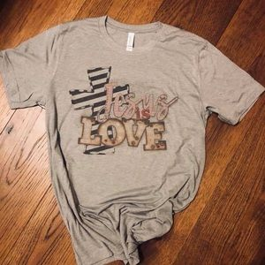 Jesus is Love Vintage Style T-shirt